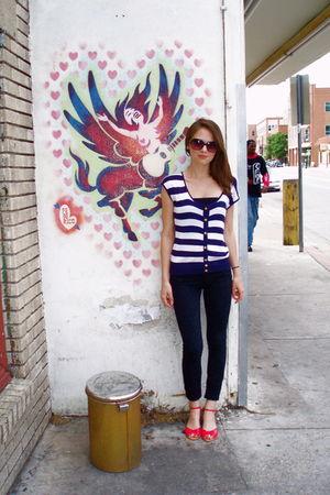 black Hudson pants - red Chinese Laundry shoes - Kersh shirt - UO sunglasses