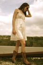 White-left-of-center-dress-vintage-necklace-unknown-boots