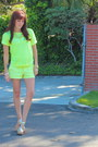Yellow-h-m-sweater-yellow-mossimo-target-shorts-j-crew-necklace