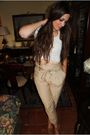 Zara-pants-mango-shoes-vintage-top