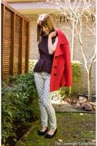Nicholas top - basque coat - Bettina Liano jeans - Alannah Hill flats