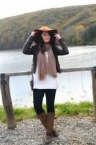 brown H&M hat - light brown Patrizia rigotti boots - black H&M jeans