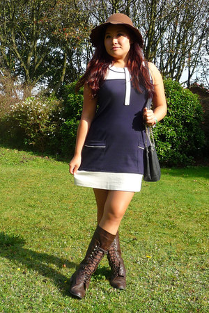 River Island dress - San Diego Hat Co hat