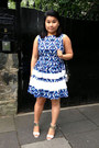 Blue-floral-print-closet-dress-silver-silver-zara-bag