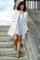 Walls coat - white Golden Rule dress - gray Rue 21 scarf - Fashion Metro shoes