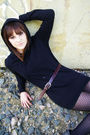 Gray-forever-21-jacket-black-forever-21-sweater-black-wet-seal-dress-thrif