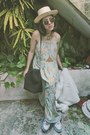 Aquamarine-maxi-dress-vintage-dress-white-faux-fur-waltheria-coat
