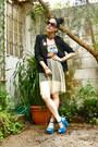 Pixie-sunglasses-black-blazer-tulle-ana-gonzlez-skirt-vintage-bodysuit