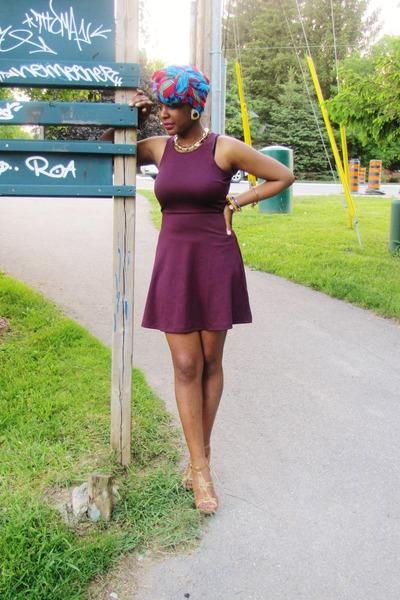 basic plum H&M dress