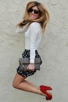 polka dot skirt Sway Chic skirt - ivory sweater Forever 21 sweater