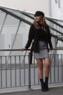 Black-forever-21-hat-heather-gray-mango-skirt