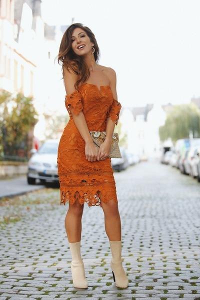 burnt orange lulus dress