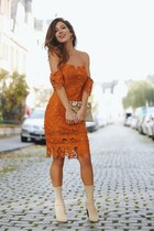 burnt orange lulus dress