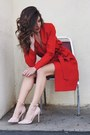 Red-2020ave-jacket-light-pink-forever-21-heels