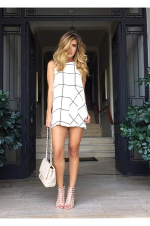 white printed Zara dress