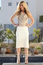Cream-zara-skirt-silver-haute-hippie-top-neutral-shoedazzle-heels