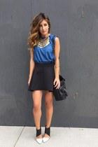sky blue Zara top