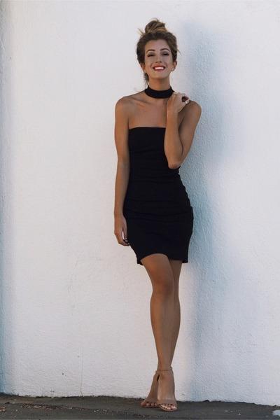 black Bebe dress