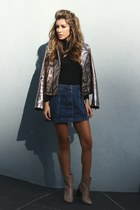 bronze Zara jacket - camel Forever 21 boots