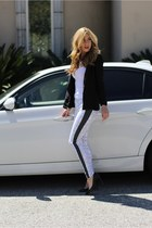 white Evleo leggings