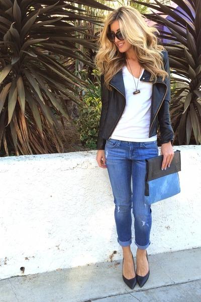 black Blush Boutique jeans - light blue Private Cartel bag