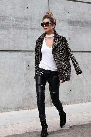 black leopard print Mango jacket - ivory Forever 21 sweater