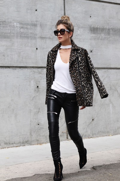 2f999870e060 black leopard print Mango jacket - ivory Forever 21 sweater