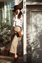 ivory colton dane blouse - tawny Yves Saint Laurent bag