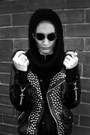 Studded-lenerd-jacket-hooded-lenerd-scarf