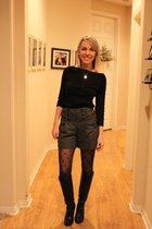 black American Apparel shirt - gray Anthropologie shorts - black Target tights -