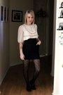 White-erin-fetherston-for-target-dress-black-ebay-skirt-black-target-stockin