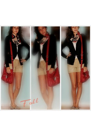 tribal Forever21 scarf - white shirt - coral tyler rolan bag