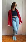 Denim-american-apparel-jeans-navy-american-apparel-top