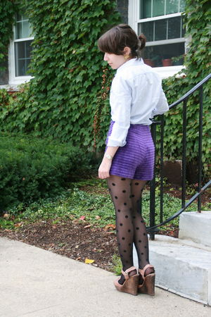 Rugby Ralph Lauren blouse - vintage shorts - kate spade tights - French Connecti