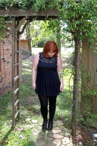 Blowfish boots - Forever21 dress - tights