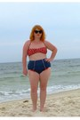 Red-polka-dot-target-swimwear-blue-high-waisted-fables-by-barrie-swimwear