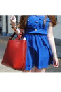 Black-sascha-boots-blue-primark-dress-blue-monki-hat-ruby-red-zara-bag