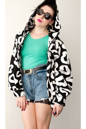 leopard print See by Chloe jacket - cycling shorts American Apparel shorts