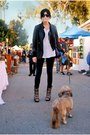 Black-urban-outfitters-blazer-black-hurley-cardigan-white-urban-outfitters-s