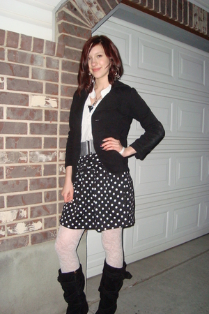 black Forever 21 skirt - black forever 21 a few years ago jacket - white unknown