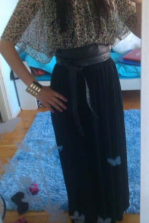 Only top - H&M skirt - pieces bracelet - GINA TRICOT belt