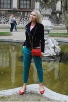 Mango jacket - Mango bag - Zara pants - Zara flats