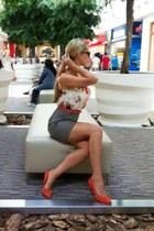 Mango shoes - H&M dress - versace bag