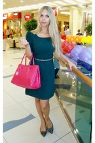 Furla bag - limon dress - Zara flats