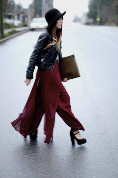 vintage pants - vintage hat - H&M jacket - joe fresh style shirt