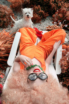 orange wide leg elle rosemonde yakovlev jumper