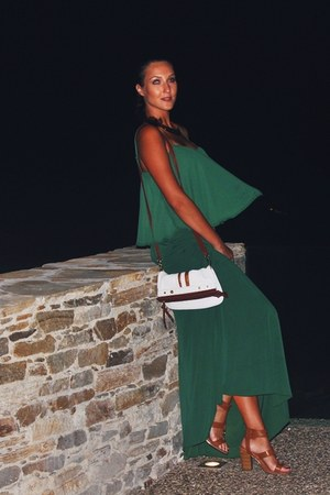 forest green maxi skirt lynne skirt - forest green chiffon lynne top