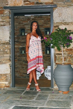 asymmetrical le vertige dress - off white floral print Louis Vuitton purse