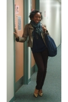 Zara shirt - unknown brand jeans - Urban Outfitters scarf - American Eagle purse