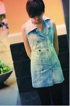 paperpatterns vest - unknown brand tights